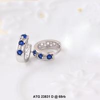 anting white xuping 23831d batu biru