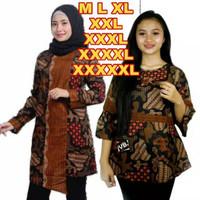 Baju Batik Wanita BIG SIZE JUMBO XXL XXXL 4L 5L Motif Sekar Jagad