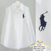 (Restock) Polo Shirt kemeja wanita kemeja putih wanita atasan wanita