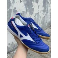 Sepatu futsal mizuno original Morelia IN biru putih new 2020