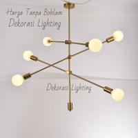 L475 6L lampu gantung gold modern minimalis decor lighting - Gold