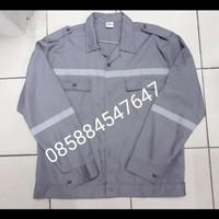 baju safety seragam safety baju kerja baju proyek lengan panjang abu