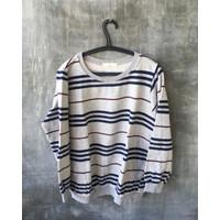 Crewneck Stripe Grey Clothes&Cook by Yoonie