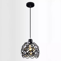 Lampu gantung minimalis vintage kristal LG 11392-1 BK