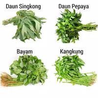 Sayur segar / curah Kangkung / Bayam / Daun Singkong / Dn Pepaya 1iket