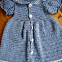 Baju Bayi Perempuan Rajut Sailor Baby Blue