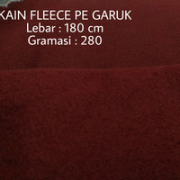 Kain kiloan bahan sweater Fleece PE tebal : 280