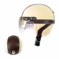 FN Helm Anak Retro Casual Series Coklat
