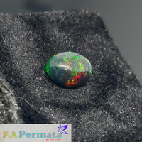 Batu Kalimaya Hitam Black Opal 100% original MultiColor Jarong Good