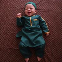 Koko bayi cakep lucu bahan bagus set baju celana peci Pakistan bes sel