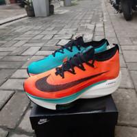 Sepatu Running pria Nike zoom alphafly nex % lake blue/orange