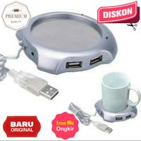 Coffee Cup Warmer Pad with 4 USB Ports USB 2.0 Hub Penghangat Cangkir