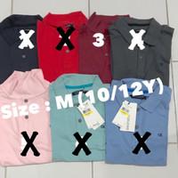 Kemeja polo shirt anak laki 10/12 tqhun branded sisa eksport baju anak