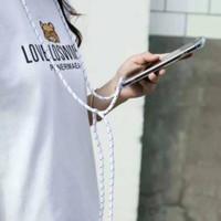 0430 VVV case Samsung Note 9 lanyard sling case anticrack bening clear