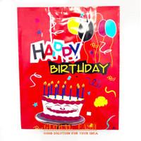 paper bag HBD MERAH / souvenir ultah / tas bingkisan / tas ultah murah