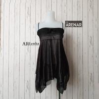 SKA135 Sexy Lingerie Hitam Dress - Baju Tidur Tipis Transparan Wanita