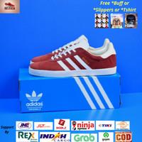 Sepatu Adidas Gazelle Maroon List White Original BNWB Indonesia