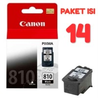 Cartridge Canon PG 810 Black Original (PAKET ISI 14)