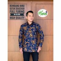 Baju Batik Pria Keris D5 Lengan Panjang Kemeja Kantor