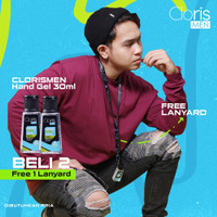 Paket Clorismen 2 Botol Handgel Anti Kuman Hand Sanitizer Free Lanyard