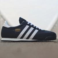 Sepatu Adidas Dragon Black List White Full Suede Original BNWB
