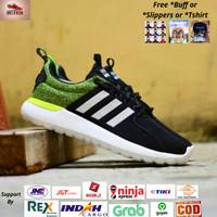 Sepatu Adidas Cloudfoam Lite Racer Grey List Black Original Indonesia