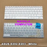 Keyboard Asus E202 E202m E203 E203m E203n E202sa E205 X205 TP201 PUTIH