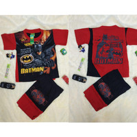 SHAKO Baju Kaos Stelan Sayap Karakter BATMAN Pakain Anak Laki Laki