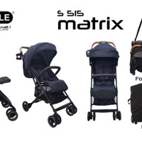 Stroller Baby Elle Kereta Dorong Bayi BabyElle 515 Matrix Bisa Gojek - Red