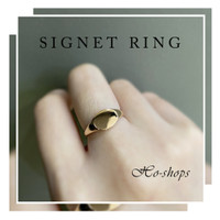 Cincin signet ring rosegold kadar 75% asli emas uk 17