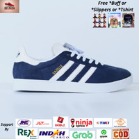 Sepatu Adidas Gazelle Navy White Original - Sneakers Original Adidas
