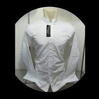 Grosir Baju Koko Muslim Pria Dewasa Putih Polos Seragaman Murah Baru - Putih, M