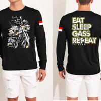 Baju Distro RxKing Eat Sleep / Kaos Distro / Baju Oblong Pria / Tshirt