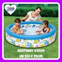 Mainan Anak Bestway 51009 Coral Kolam Renang Karet Uk 122cm Balon Tiup