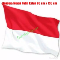 Bendera Merah Putih Katun 90 cm x 135 cm