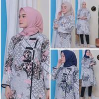Baju Batik Wanita Lengan Panjang Tunik Soft Baru
