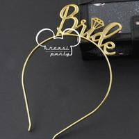 Bando Bride To Be Gold / Bride To Be Crown / Headband Bride To Be