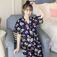 Baju Tidur Piyama Kimono motif Doraemon
