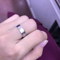 Cincin emas putih 750% cp0138