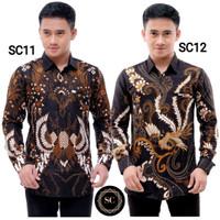 Baju Batik Pria Lengan Panjang Slimfit Modern