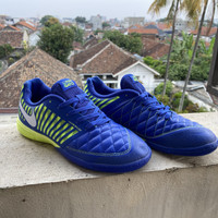 Sepatu Futsal Nike Lunar Gato II Blue / Electric Green