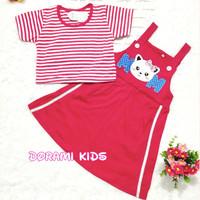 dress overall anak usia 1- 8 tahun bordir MoM utk 1 2 3 4 5 6 7 8 thn
