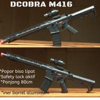 Dcobra Senapan Spring AR-15 M416 - Mainan Tembakan Kokang Anak Cobra