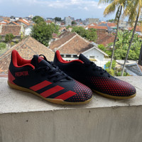 Sepatu Futsal Adidas Predator 20.4 Black Red