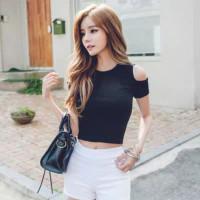 LALISA TOPS (ATS-022) - Pakaian Wanita Atasan 100% Real Picture - Hitam