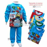 Baju Setelan Anak Tayo PANJANG Full Print Baju Tidur Tayo Piyama Murah
