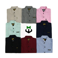 Hem anak 1-6th Kemeja Katun Anak Cowok Trendy Baju Anak Warna Cerah