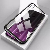 Vivo Y12 / Y15 Case Magnetic Premium Glass 2in1 | Handphone Aksesoris