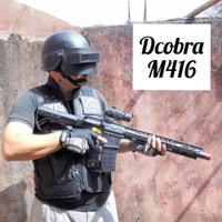 Dcobra Senapan Spring AR-15 - Mainan Tembakan AR15 Anak Cobra M416