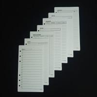 Refill Rados Organizer Agenda A6 Isi Binder / Time Planner